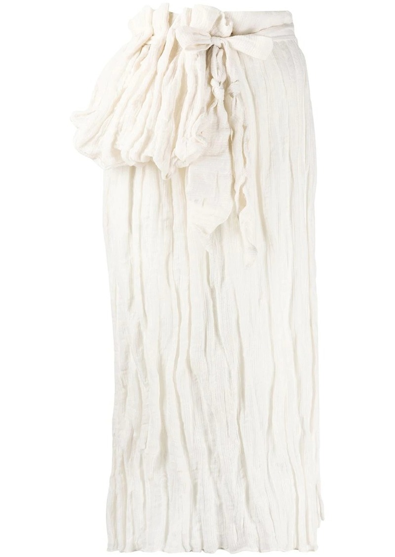 Acne Studios drapey volumed skirt