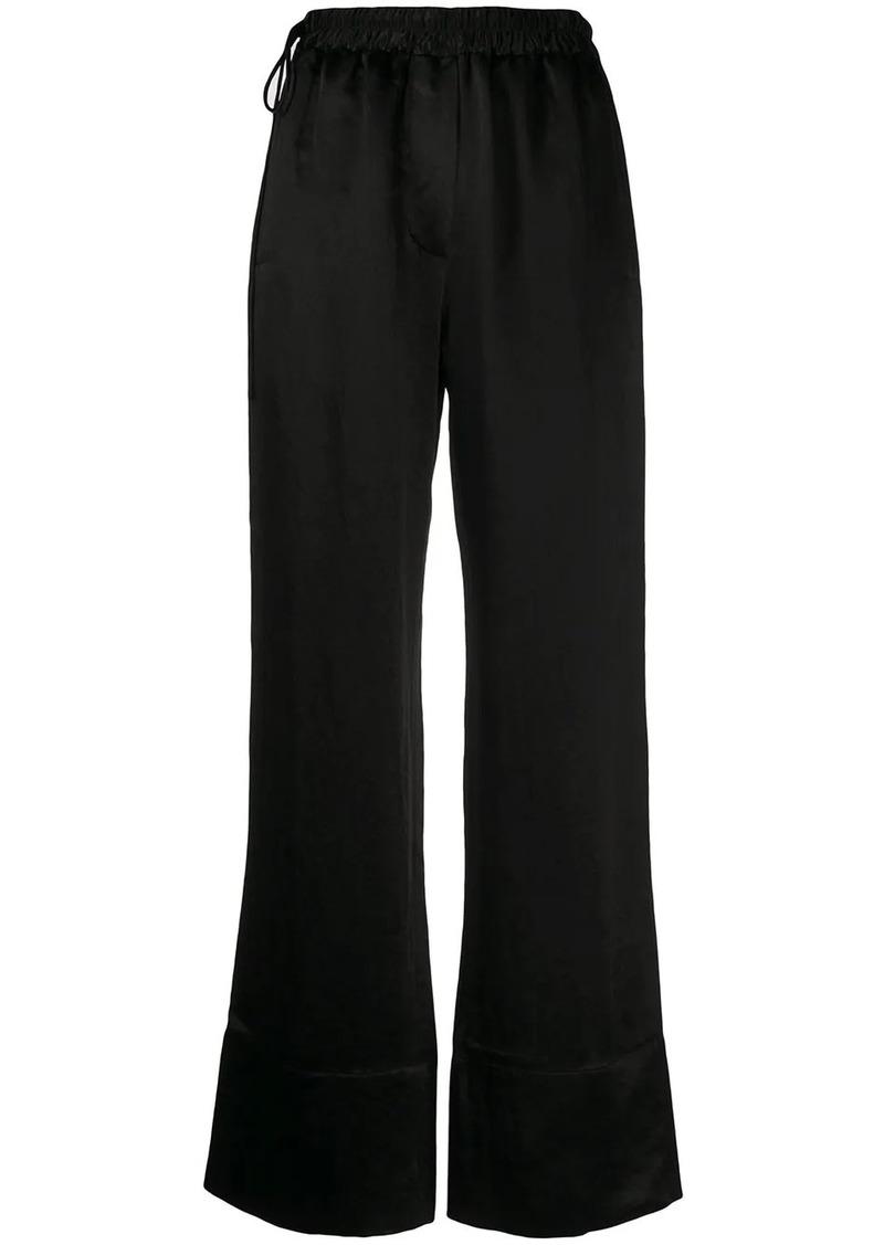Acne Studios drawstring waist straight-leg trousers