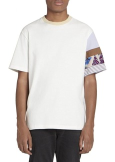Acne Studios Eli Graphic Patchwork Sleeve Tee