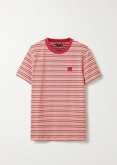 Acne Studios Ellison Face Appliquéd Striped Cotton-jersey T-shirt