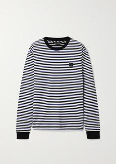 Acne Studios Elwood Face Appliquéd Striped Cotton-jersey Top