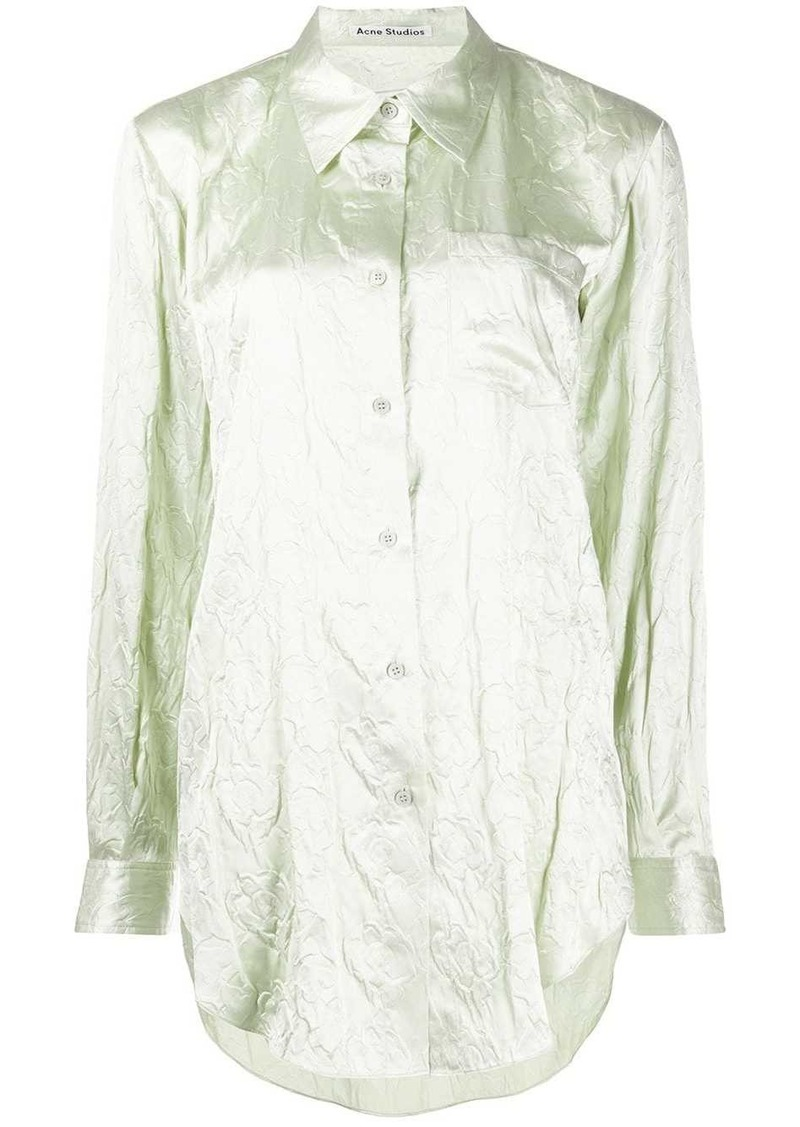 Acne Studios embossed floral shirt