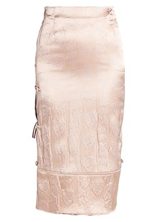 Acne Studios Embossed Satin Skirt