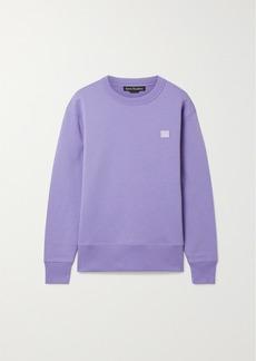Acne Studios Fairview Face Appliquéd Brushed Cotton-jersey Sweatshirt