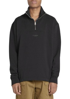 Acne Studios Faraz Cotton Quarter-Zip Top