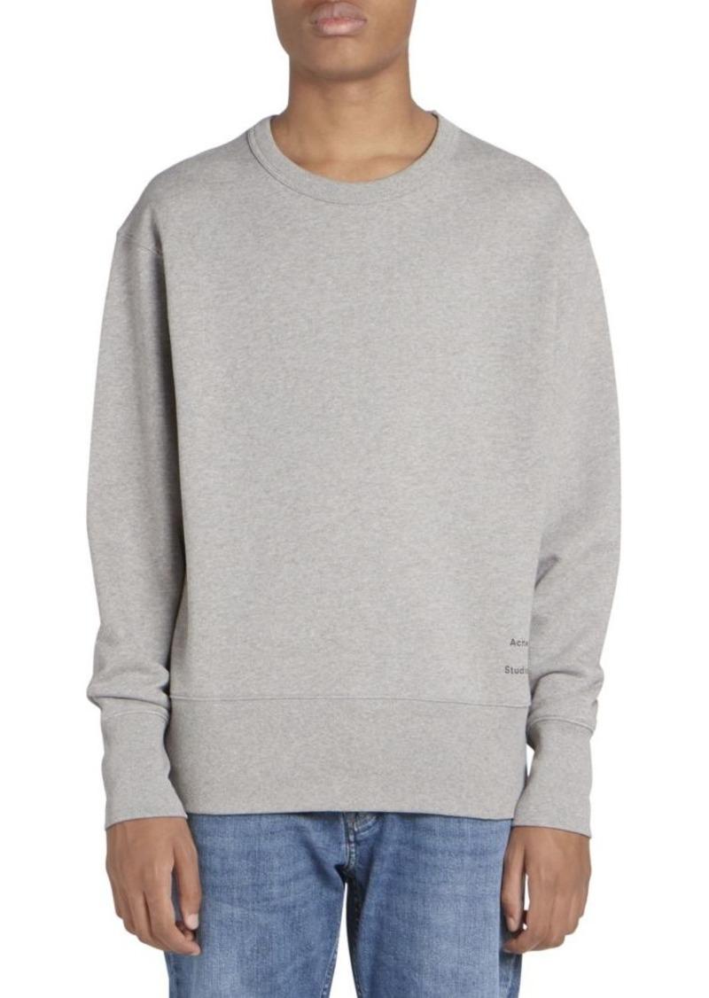 Acne Studios Fayze Cotton Logo Sweatshirt