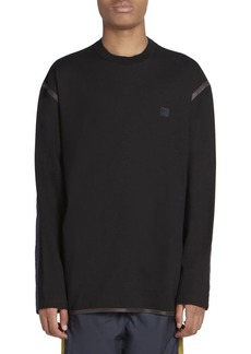 Acne Studios Ferke Face Patch Contrast Sleeve Sweatshirt