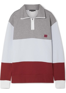 Acne Studios Flint Face Appliquéd Color-block Cotton-jersey Sweatshirt