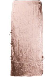 Acne Studios floral-jacquard midi skirt