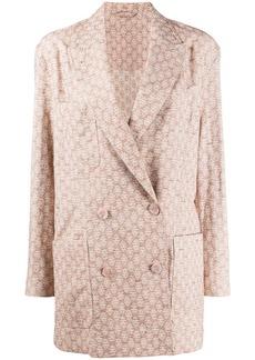 Acne Studios floral-jacquard suit jacket