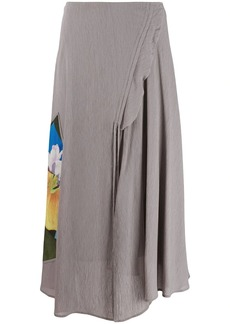 Acne Studios floral panel long skirt
