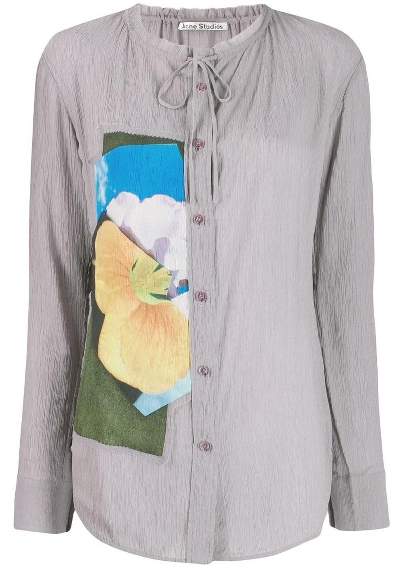 Acne Studios floral panel shirt