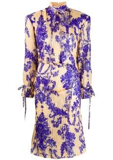 Acne Studios floral print midi dress