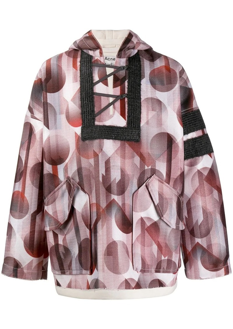 Acne Studios football print pullover jacket