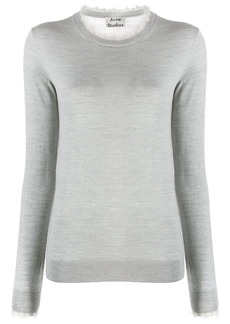 Acne Studios fringed crew neck sweater