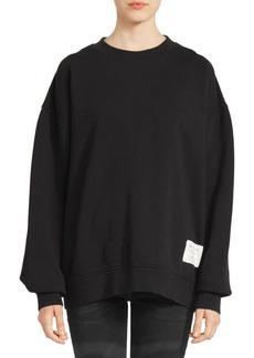 Acne Studios Fyona Wash Label Cotton Sweatshirt