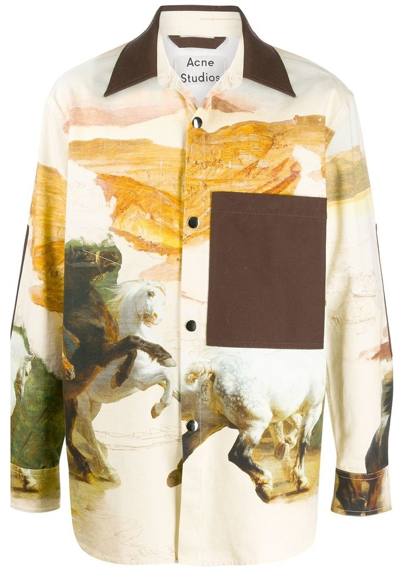 Acne Studios horse print overshirt