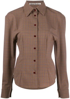 Acne Studios houndstooth structured shirt