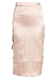 Acne Studios Idaia Embossed Satin Skirt