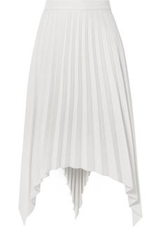 Acne Studios Ilsie Asymmetric Pleated Wool-blend Midi Skirt