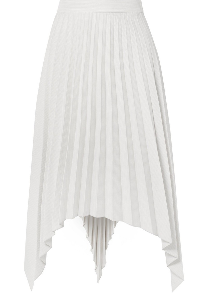Acne Studios Ilsie Asymmetric Pleated Wool-blend Midi Skirt