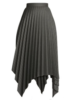 Acne Studios Ilsie Stripe Pleated Handkerchief Hem Skirt