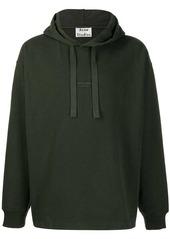 Acne Studios inverted logo print hooded sweatshirt