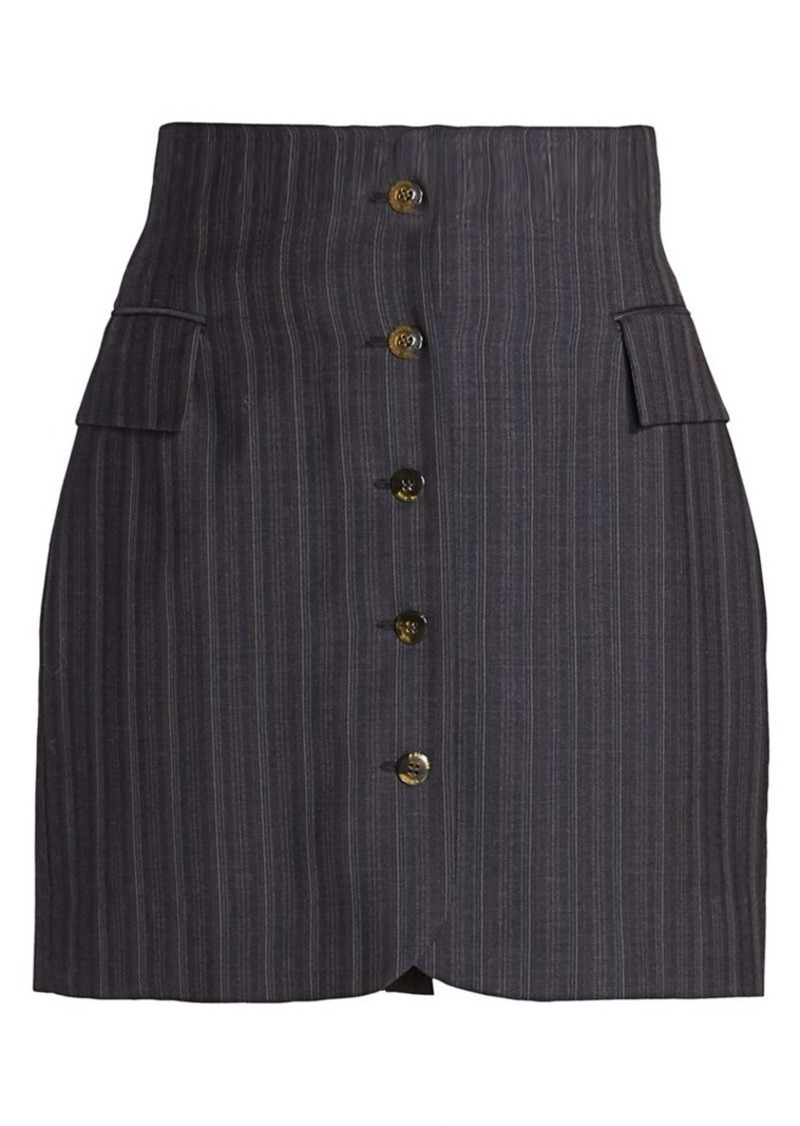 Acne Studios Ivet Pinstripe Mini Skirt