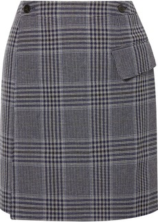 Acne Studios Ivonne Checked Cotton-blend Wrap Mini Skirt