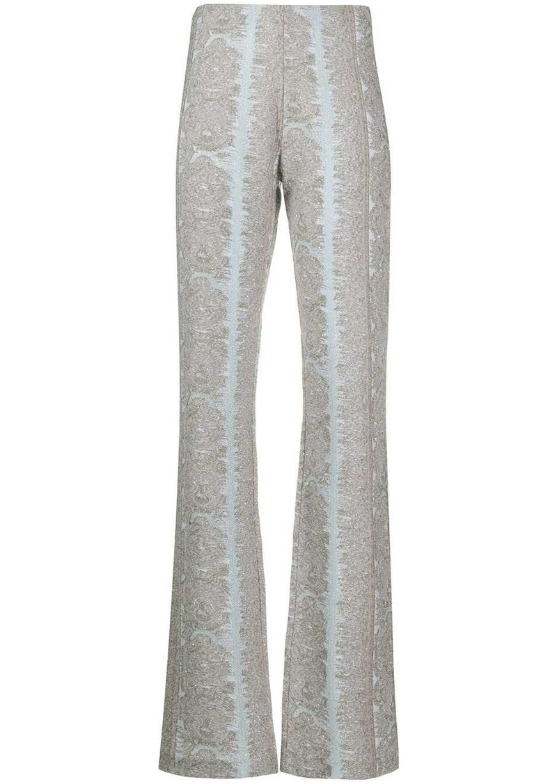 Acne Studios jacquard detail high-waisted trousers