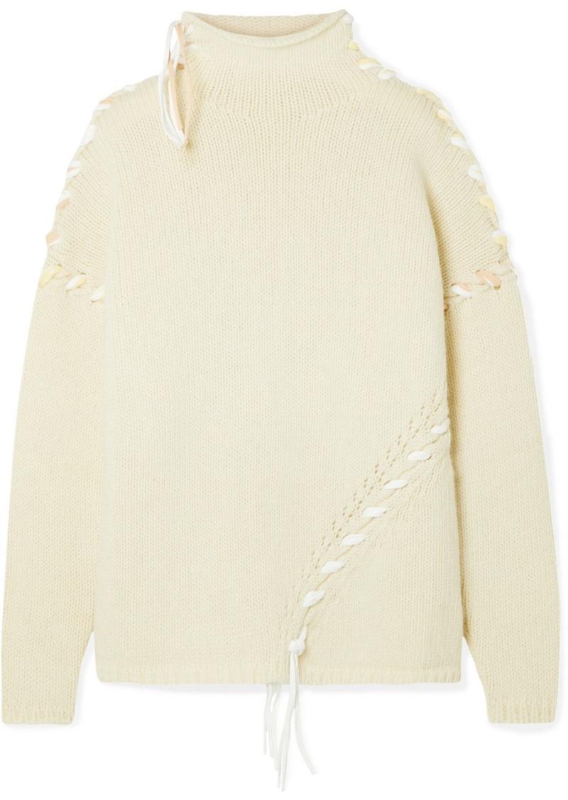 Acne Studios Kaneta Oversized Whipstitched Wool Sweater