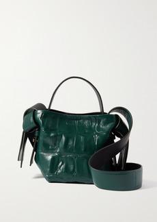 Acne Studios Knotted Croc-effect Leather Shoulder Bag