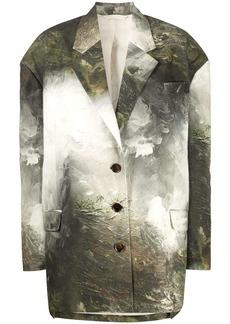 Acne Studios landscape-painting print blazer