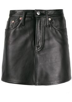 Acne Studios leather A-line mini skirt