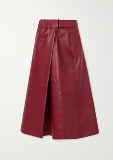 Acne Studios Leather Wrap Skirt