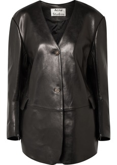 Acne Studios Lexa Oversized Leather Jacket