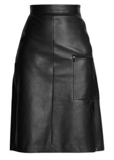 Acne Studios A-Line Leather Skirt
