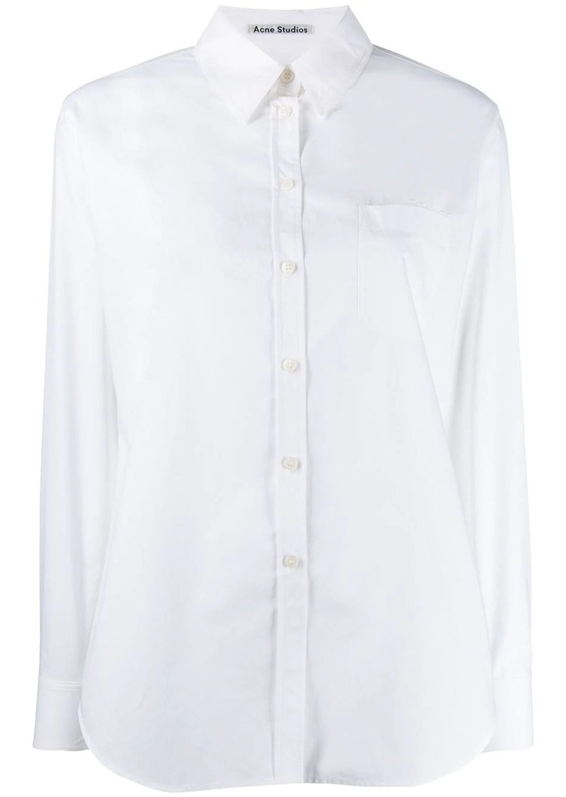 Acne Studios logo embroidered shirt