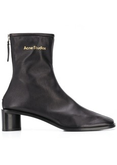 Acne Studios logo-print leather boots