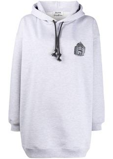 Acne Studios logo print oversized hoodie