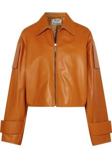 Acne Studios Lozoa Cropped Leather Jacket