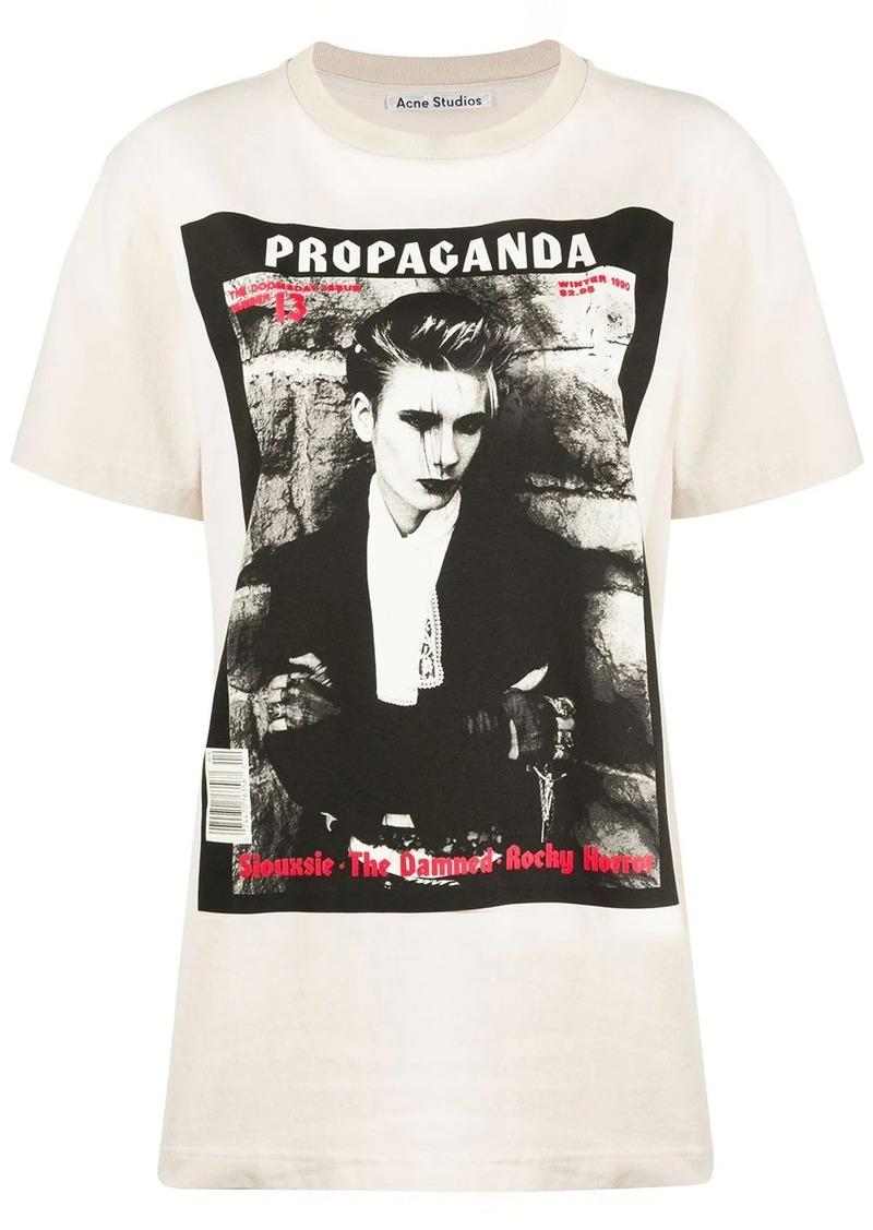 Acne Studios Magazine print T-shirt