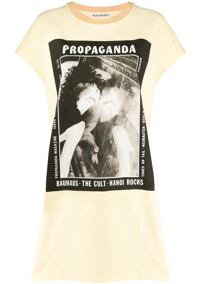 Acne Studios magazine print T-shirt dress