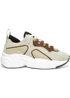 Acne Studios Manhattan Leather, Suede And Mesh Sneakers