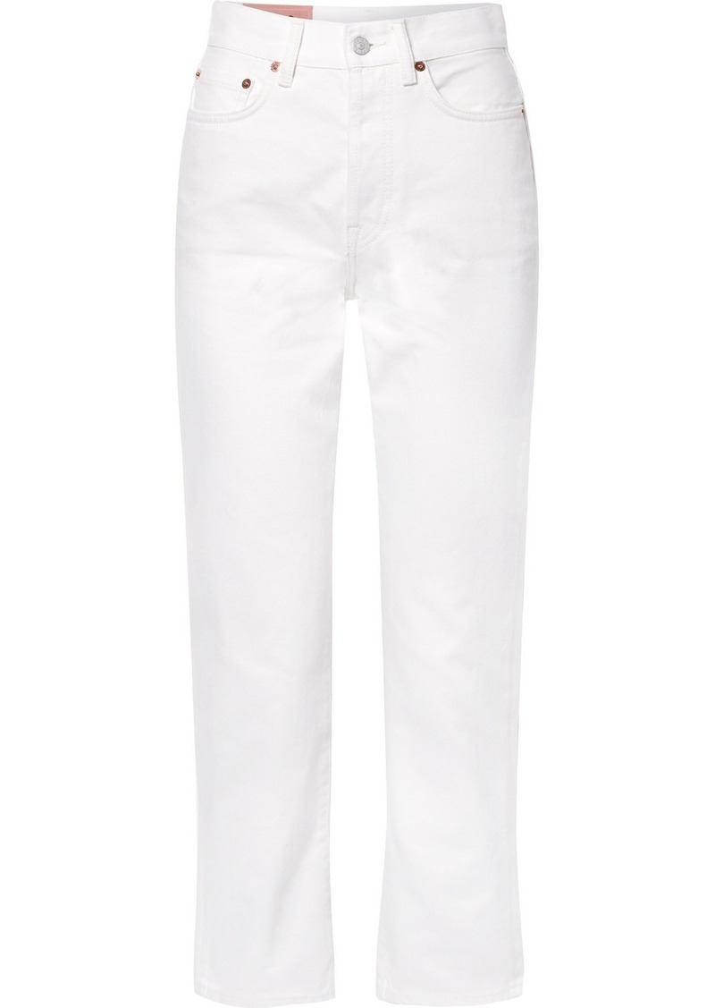 Acne Studios Mece Cropped High-rise Straight-leg Jeans