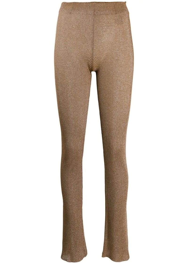Acne Studios metallic knitted trousers