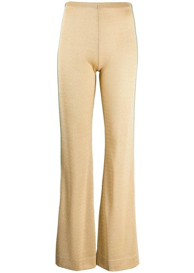 Acne Studios metallic threading flared trousers