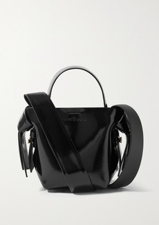 Acne Studios Micro Knotted Glossed-leather Shoulder Bag