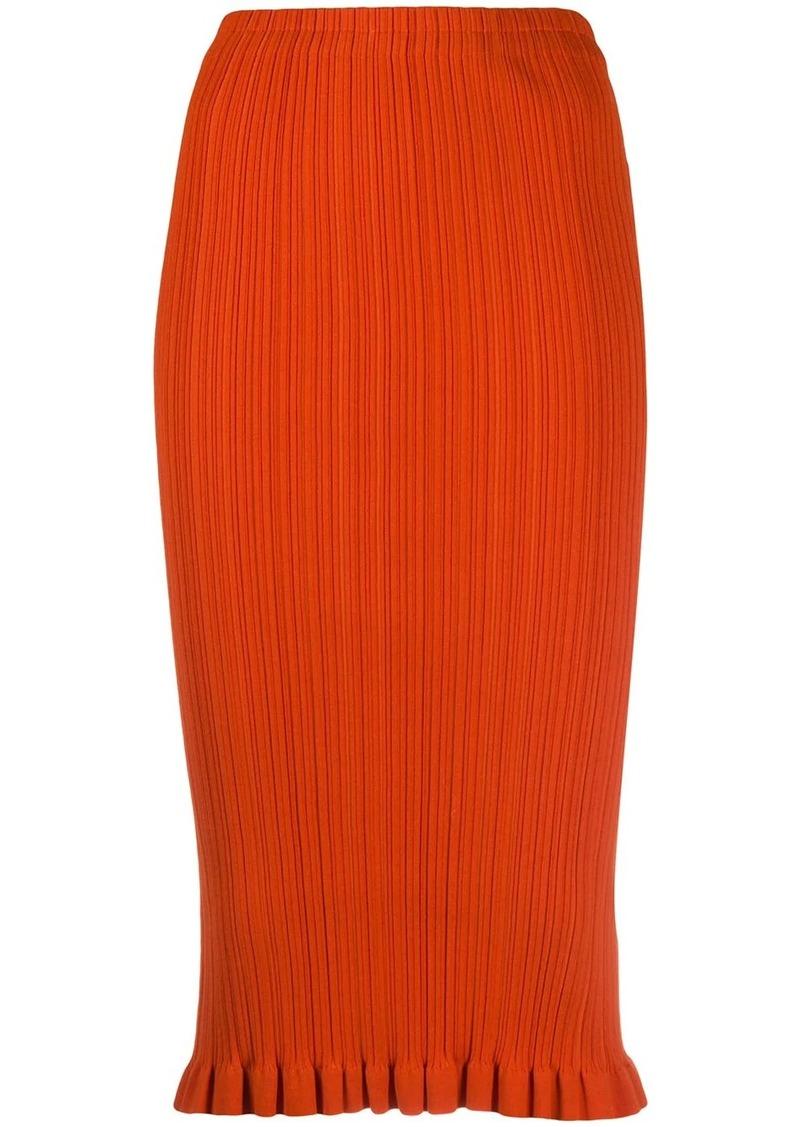 Acne Studios micro-pleated pencil skirt