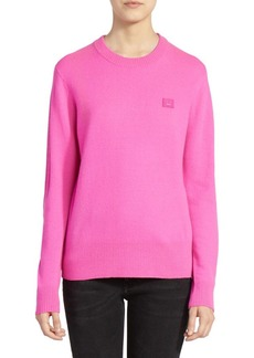 Acne Studios Nalon Face Crewneck Sweater
